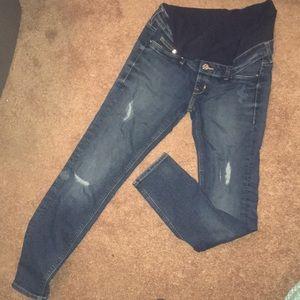 Denim - Mama Skinny high rib maturity jeans size 6